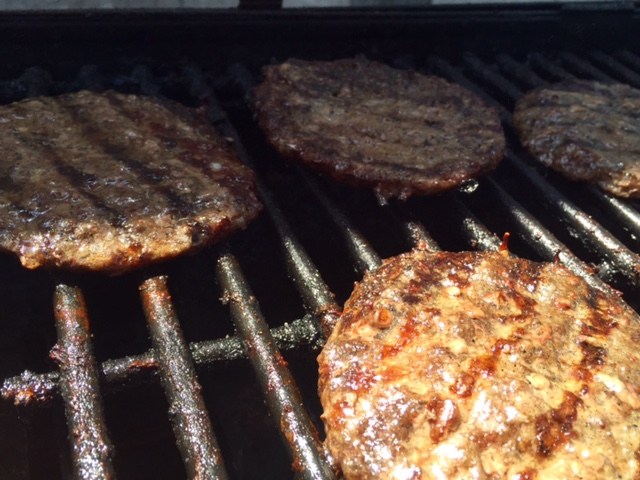Neil's Catering Burgers on Grill