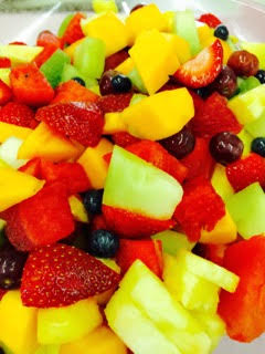 Catering of fruit salad